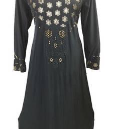 Black Colour Diamond Stone Work Strechable Lycra Fully Stitched Burkha