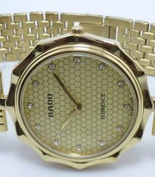 Buy GENTS MEN RADO SLIM SUPER FLAT GOLD PLATED QUARTZ JAPAN WRIST WATCH vintage-watch online