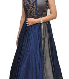 Grey embroidered party wear gown