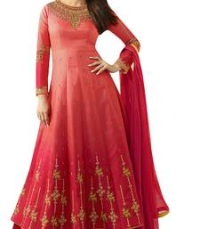 Buy Red embroidered georgette salwar with dupatta bollywood-salwar-kameez-online online