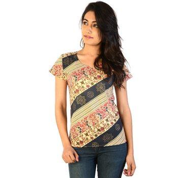 Designer Printed Multicolor Ethnic Cotton Top