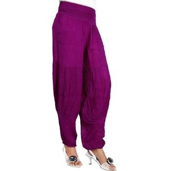 Modern Fine Rayon Crepe Purple Girls Harem Pants