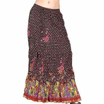 Fancy Zari Work multicolor -Colour Cotton Long Skirt
