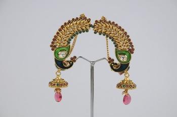 Traditional Full Ear Peacock Earring
