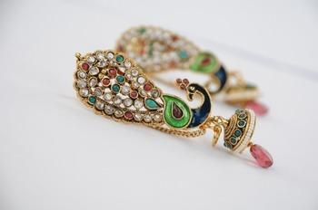 Traditional Full Ear Peacock Earrings