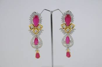 Dazzling Gold Plated Sapphire Earrings