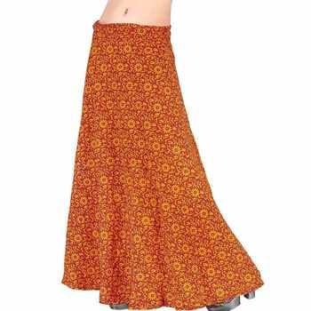 Ethnic Yellow Cotton Wrap Around Cotton Skirt