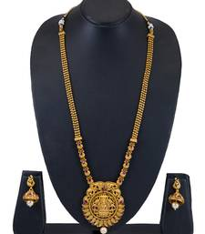 Buy Sukkhi Stylish Bahubali Inspired Gold Plated Necklace Set for women necklace-set online
