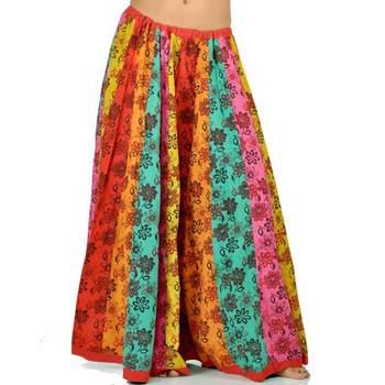 Jaipuri Floral Design Pure Cotton Lehnga Skirt