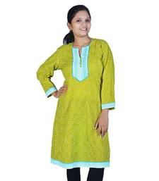 Exclusive Designer Lehriya Ethnic Cotton Kurti