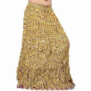 Designer Rajasthani Yellow Cotton Long Skirt