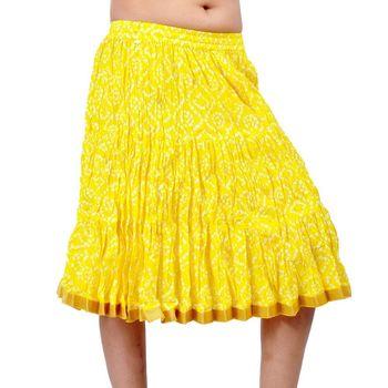 Jaipuri Tie dye Print Pure Cotton Short Skirt