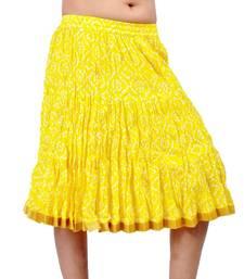 Buy Jaipuri Tie dye Print Pure Cotton Short Skirt skirt online