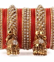 Traditional shining bangle Jhumki Bangle set for Two Hands by Orange
