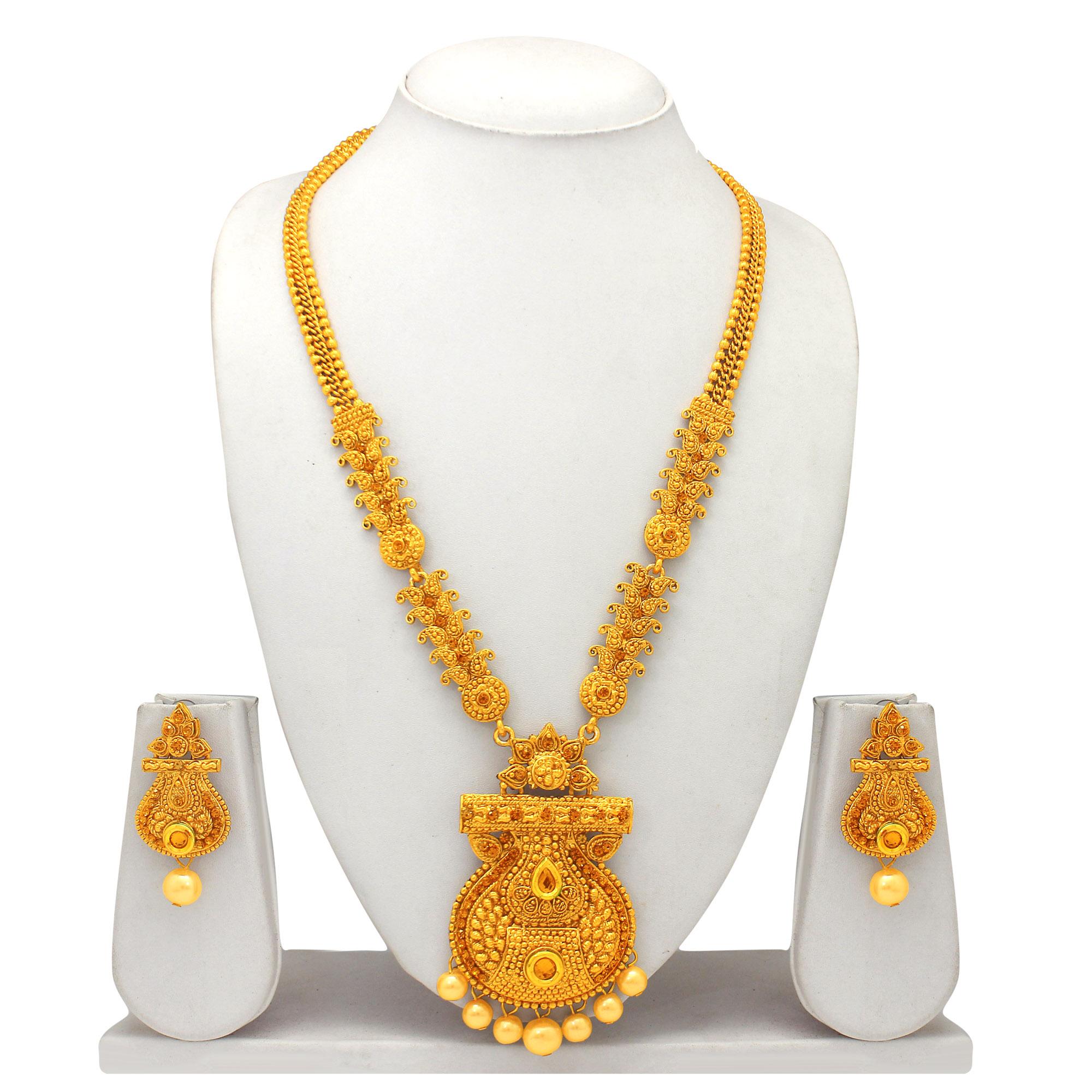 372ac5506c27c Atasi international traditional gold plated necklace set