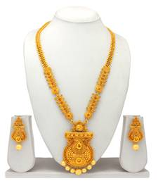 Atasi International Traditional Gold Plated Necklace Set