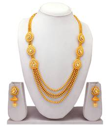 Atasi International Traditional Temple Style Gold Necklace Set