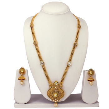 Atasi International Gold Plated Temple Jewellery Necklace Set