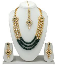 Atasi International Kundan Gold Antique Plated Necklace Set