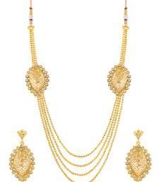 Buy Sukkhi Stunning 4 String Gold Plated Necklace Set for women necklace-set online