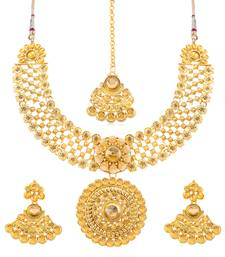 Buy Sukkhi Incredible Gold Plated Necklace Set for women necklace-set online