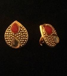 Buy Red Adjustable AD Stone tear drop motif toe ring toe-ring online