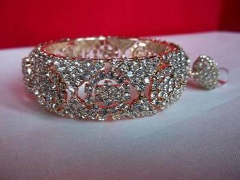 diamond kada with latkan size 2.6''