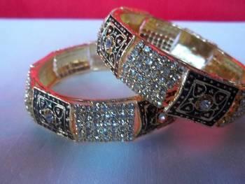 meenakari american diamond studded bangles size =2.8''