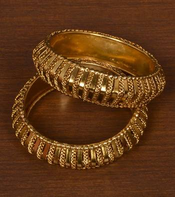 Gold Plated Bracelet Style Bangles