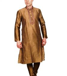 Buy Brown kurta pyjama self design jacquard kurta-pajama online