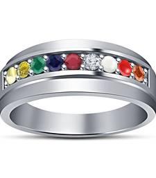 Multicolor cubic zirconia rings