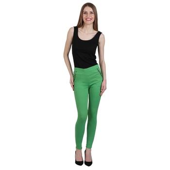 Green lycra cotton jeggings