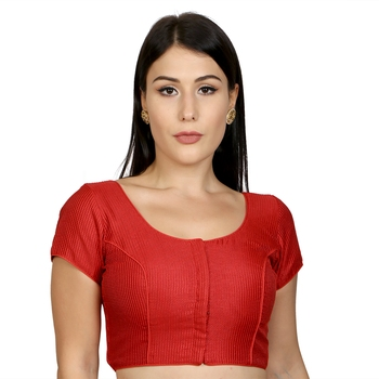 Red Banglori Silk Woven stitched blouse