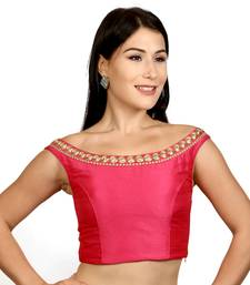 Pink Dupion Silk Woven stitched blouse