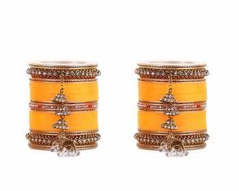 Beautiful Marriage Chura With Jhumki And Latkan By Leshya Mango