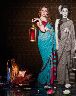 Amazing Indian Georgette Sari