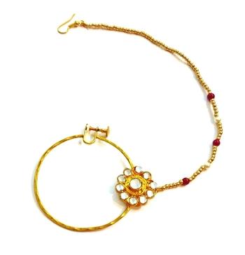 India bridal wear, beaded bridal nose ring