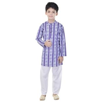 Multicolor printed cotton Kurta Pyjama For Boys