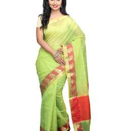 Buy Light green plain cotton saree with blouse kota-saree online