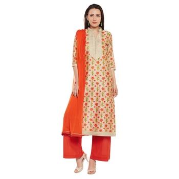 e18f38e8e7 Multicolor printed chanderi salwar with dupatta - Pinkshink - 2365666