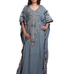 Chic Gray Color Designer Hand Made Kaftan