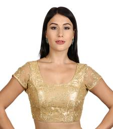 Gold Net Woven stitched blouse