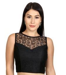 Black Dupion silk  Woven stitched blouse