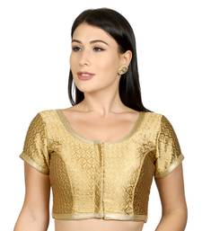 Gold Brocade Woven stitched blouse
