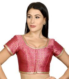 Pink Brocade Woven stitched blouse