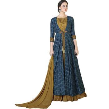 Navy blue Anarkali Suit
