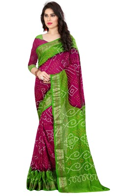 Multicolor hand woven art silk sarees saree with blouse