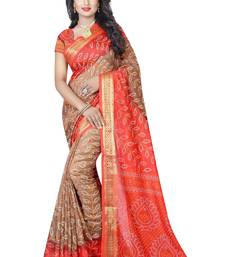 Buy Multicolor hand woven art silk sarees saree with blouse women-ethnic-wear online
