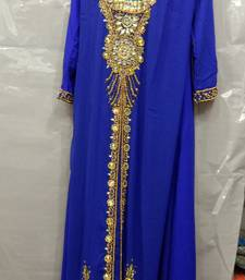 Buy Blue georgette hand embroidery stitched abaya abaya online