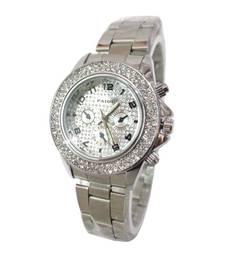 Buy Silver diamond watches watch online